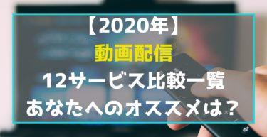 【2020年】動画配信 12サービスを比較一覧 あなたへのオススメは?